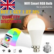 B22 Wifi Smart APP Remote Control Wifi Light Bulb For Echo Alexa Google Home R1H