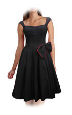 CLASSY VINTAGE 1950's ROCKABILLY STYLE SWING PARTY EVENING PROM DRESS SIZE 8