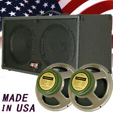 1) 2x12 Guitar Spker Cab Charcoal black Tolex W/Celestion Green Back speakers