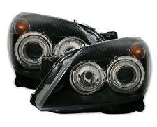 BLACK ANGEL EYE HEADLIGHTS HEADLAMPS FOR VAUXHALL OPEL  ASTRA H MK5  MK 5