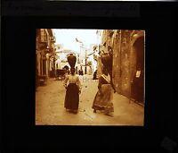 Taormina Italia Targa Di Proiezione Per Lanterna Magica Ca 1900