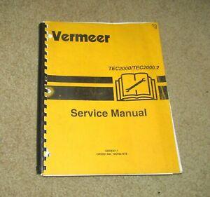 1997 VERMEER TEC2000 TEC2000.2 OFFSET TRACK TRENCHER SERVICE MANUAL SMDE97-1