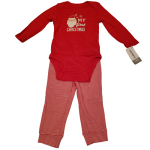 Carter's My First Christmas Santa Holiday 2-Piece Outfit, Size_12 mos NEW w/tags