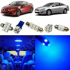 12 Piece Blue LED lights interior package conversion kit for Honda Accord #HA1B