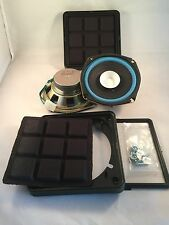 """Pair 5"""" 1/4 inch Quality Dual Cone Car Audio  with delux grills project Speakers"""