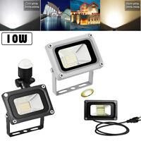 10W LED Flood Light PIR Motion Sensor/US Plug Outdoor Security Work Light AC110V