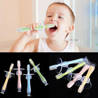 Baby Kids Teether Training Silicone Bendable Newborn Infant Toothbrush Soft Safe