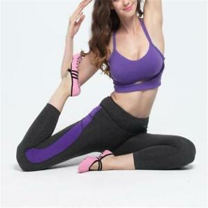 Women Cotton Yoga Gym Toe Ballet Non Slip Massage Barre Pilates Dance Socks - S