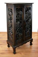 Asiatischer Schrank mit Schnitzerei Thai Möbel Asia Massivholz Handarbeit