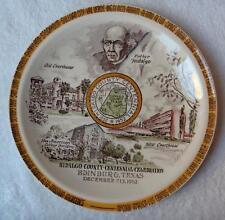 Vernon Kilns Hidalgo County Texas Centennial Celebration plate~artist signed-NR
