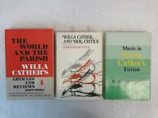 Lot of 3 WILLA CATHERS Her Critics, Articles - Reviews 1893-1902 - Music