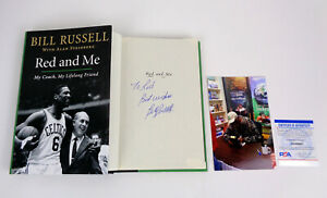 Bill Russell Celtics Signed Autograph Red And Me 1st/1st Book Proof PSA/DNA COA
