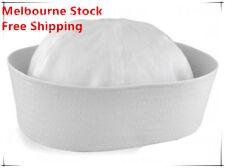 Adult Unisex White Sailor Navy Hat Gob Boat Captain Hen's Night Marine Doughboy