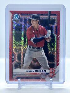 2021 Bowman Chrome Jarren Duran RED SHIMMER REFRACTOR # /5 Red Sox