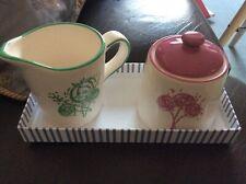 Lisa Stickley creamer/milk jug & sugar bowl NEW in box RARE