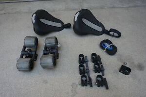 Yakima MAKO Kayak Saddles & HULLY ROLLERS Round Bar Attachments (INCOMPLETE) (C)