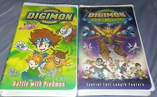 Digimon: The Movie + Battle With Piedmon (VHS, 2001) Rare Clamshell Tested Works