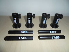 """4 x Anodized Aluminium Stage stands with locking nuts, with 4 x 3"""" inserts. Carp"""