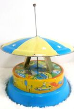 Vintage Tin Rocket Swing Toy China FOR PARTS Broken