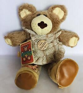 "Coleco 1986 Furskins Hattie Hat Lovin Pie Bakin Bear Xavier Roberts HUGE 22"""