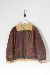 Vintage Shearling Flight Jacket Brown (XL)