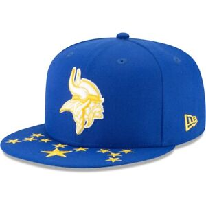 Minnesota Vikings Hat New Era 59Fifty 5950 Fitted Cap 7-1/2 Blue White Out Logo