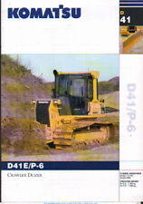 Komatsu D41E/P-6 Crawler Dozer Brochure Leaflet