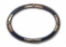 Cornice Classica in Legno - Interno 50x70 cm. - Quadro Ovale Nero Argento