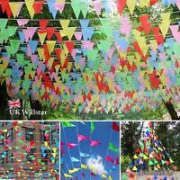 240M coloré Guirlande fanions drapeaux TRIANGLE Décor pour fête T