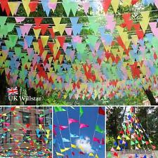 240m Colorido Guirnalda Pancarta Banderas TRIÁNGULO Fiesta Decoración wniu