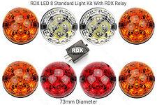 8 RDX LED STANDARD SIZE Light/lamps Kit for Defender Amber Lenses