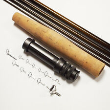 NEXTackle Fly Rod Blank SL Nymph 12ft 3wt 5pc IM6 /30T Carbon Ready to Build Kit