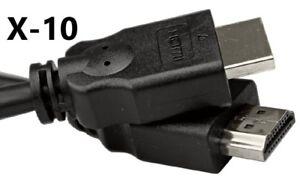 NEW 10-PACK Vericom 6' HDMI Cables Bluray 3D DVD PS3 XBOX LCD LED HDTV 1080P 4K