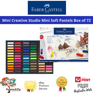 Faber-Castell 72 Soft Pastels - Vibrant Colours, High Pigmentation, Acid Free