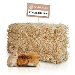 Weizenstroh 12kg für Pferde Kaninchen Meerschweinchen Stroh Einstreu Ballen