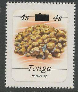 TONGA 1986  marine animals 4 S on 2 S Porites sp. U/M rare ERROR/VARIETY