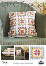 GRANNY SQUARE CUSHION COVER CROCHET PATTERN BY DMC