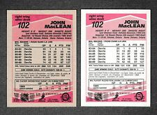 "1989-90 O Pee Chee ""Tembec Test"" & Regular Cards NJ Devils #102 John MacLean"
