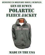 US MILITARY ECWCS GREEN GEN III POLARTEC FLEECE JACKET PARKA LINER MEN'S SMALL