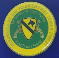 US Army 1st Cavalry Military Police Afghanistan Iraqi Freedom Challenge Coin S