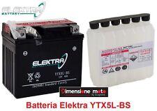 Batteria ELEKTRA YTX5L-BS 12V-4Ah + Acido per CANNONDALE Quad XC 432 dal 2000