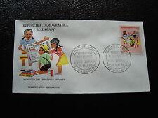 MADAGASCAR - enveloppe 25/5/76 - livre pour enfants - yt n° 594 - (cy9) (Z)