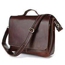 Vintage genuine leather man messenger bag men briefcase laptop shoulder bag 7108