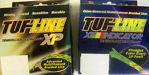 15 LB 150 YARDS TUF LINE XP SUPER BRAID FISHING LINE - CHOOSE COLOR