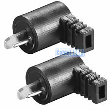 2 Pin DIN Right Angle Hi-Fi Speaker Plug Cable Audio Screw Connector PACK of 2