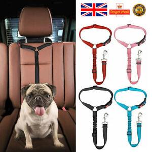 Car Safety Seat Belt Adjustable Harness Travel Lead Restraint Strap For Pet Dog