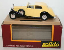 Solido 1/43 Scale - 71 - 1939 Rolls Royce - Yellow / Black