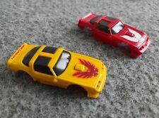 TCR : 2 carrosseries clipsées Trans-Am jaune TBE et Trans-Am rouge NEUVE !