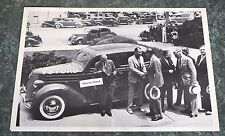 """12 By 18"""" Black & White Picture 1936 - 3,000,000 V-8 Ford , 4 door"""