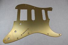Brushed Gold Anodized  Aluminum HSS Strat Pickguard- Fits Fender Stratocaster